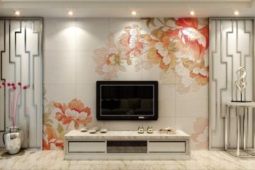高温浮雕艺术背景墙