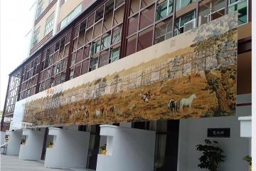 室外墙面陶瓷壁画百骏图