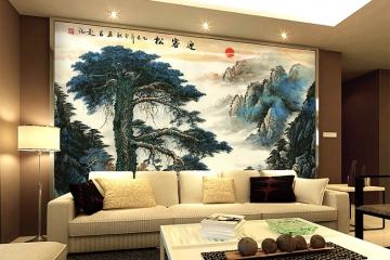 酒店公司大堂陶瓷艺术背景墙